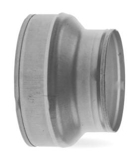 Verloopstuk (reductie) 100/125 mm Staal